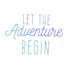Couture Creations Mens Mini Stamp - Let the Adventure Begin